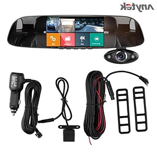 16GB Anytek@Car dash Cam B33, Tachograph HD 1080P Car Dual Degree G-sensor Supper