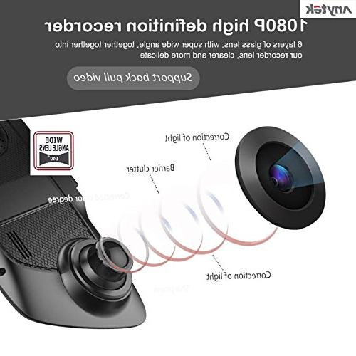 16GB TF Card+ Tachograph Inch HD 1080P Car DVR Dual Degree G-sensor Recorder Supper Vision Dash Cam