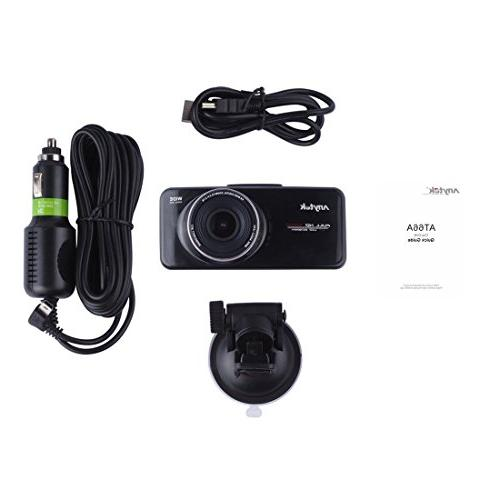 16GB Card+ Anytek@ FHD inch TFT Dash Cams DVR Car Dashboard Car Camcorder 170 Angle Car DVR WDR, Loop