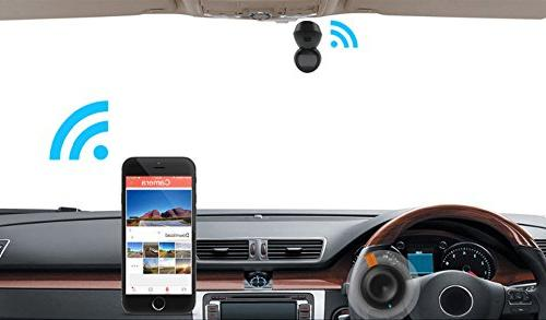 16GB TF Car Dash Camera FHD1080P Vehicle Camera Recorder 360° IPS 160°Wide Angle in APP DVR, Loop Parking