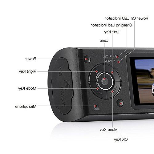 NOVPEAK TFT Full HD Front & Rear Dual Camera Vehicle Car Dash Cam with Angle Lens, and GPS Trader - Retail Black