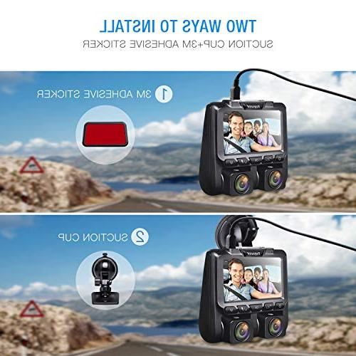 TOGUARD Cam HD Inside and Camera with Sony Sensor, WDR, Parking Monitor, for