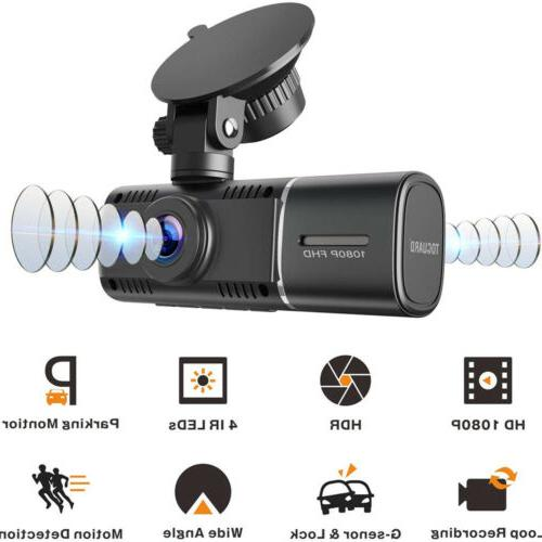 TOGUARD Uber Dash Dual inside Night Vision