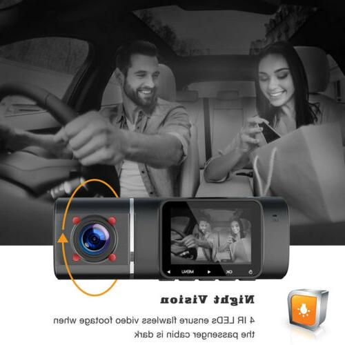 TOGUARD Uber Cam Dual Front inside Car Night Vision