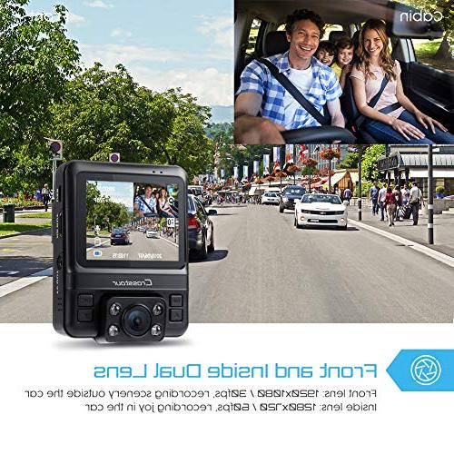 Uber Lens Cam GPS in 1080P Front Inside with Parking Infrared Sensor, Motion Detection, and