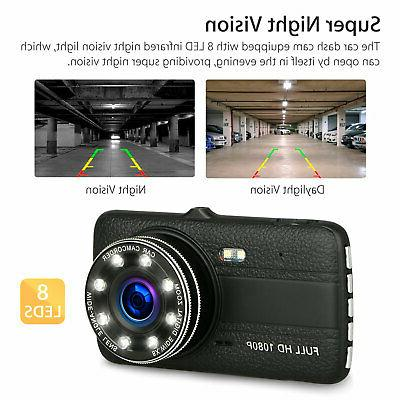 "4"" Vehicle Car Dashboard Camera Video Dash G-Sensor"