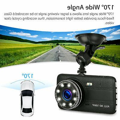 "4"" 1080P Car Video Recorder Dash G-Sensor"
