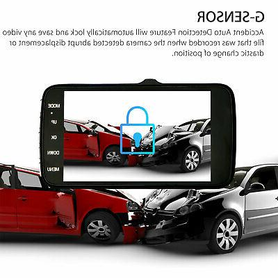 "4"" Vehicle HD Car Dashboard Video Recorder Dash G-Sensor"