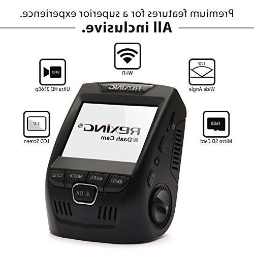 Rexing 3rd Dash 170° Dashboard Camera Recorder with WiFi, Loop
