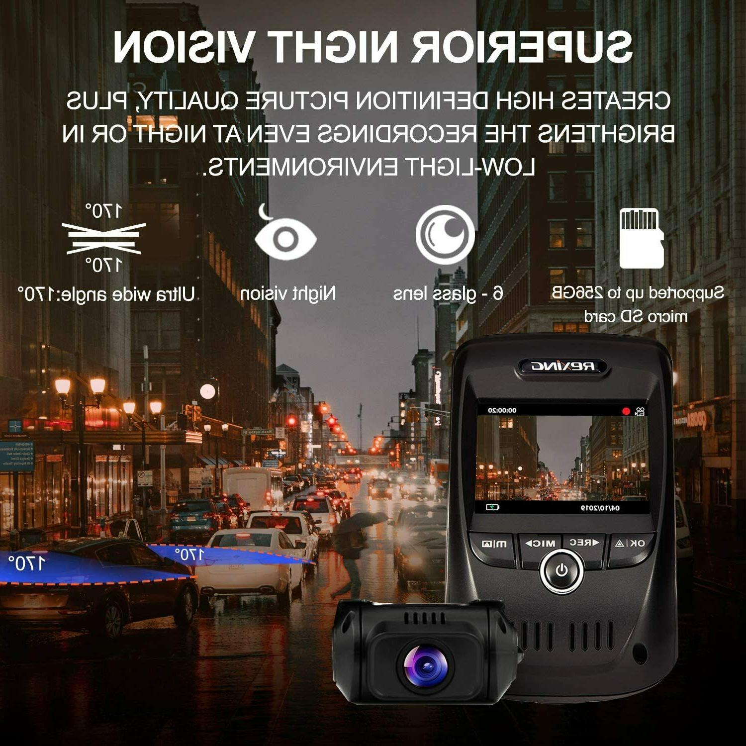 REXING MAX UHD Channel CAM, 3840X2160 Front+1080p
