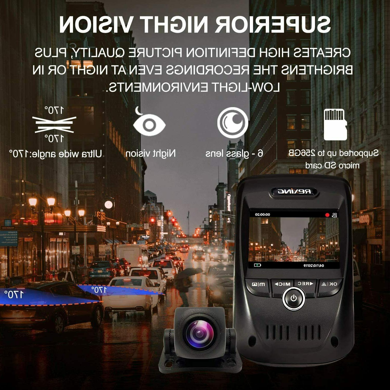 REXING MAX 4K UHD Channel CAM, Front+1080p