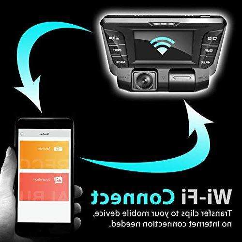 Rexing Back Dual Camera Full HD Wi-Fi Wide Angle LCD Car, Cam