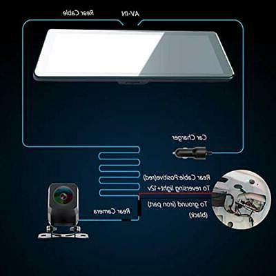 Vehicle Mirror Dash Cam, Touch Screen