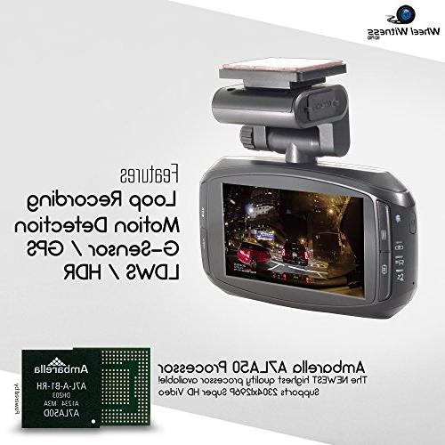 WheelWitness HD Dash Cam 1296P HD 170 Play Camera LOOP w/ FREE