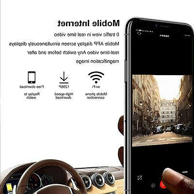 WiFi 1080P Car Camera Dual Cam Front and 170