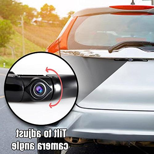 Wireless Rear Camera - LCD Monitor Built-in Distance Scale Lines Slim Bar Grade LEDs Pyle