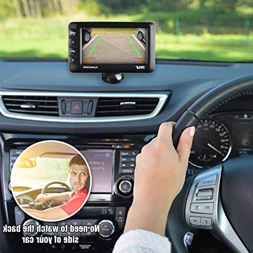 "Wireless Backup Camera Car Parking Rearview Lines, Waterproof, 4.3"" LCD Screen, Video Color -"