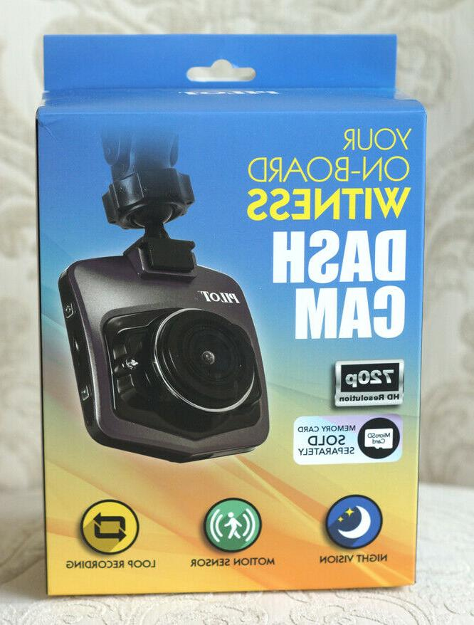 your on board witness dash cam 720p