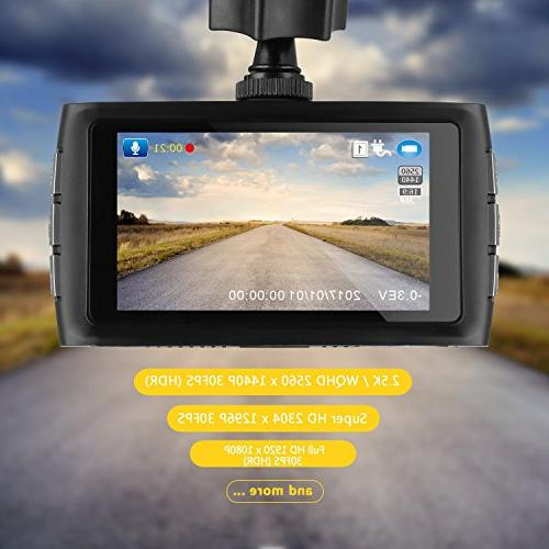 Z-EDGE Z3 Dash Cam, HD Car with Night Angle and 32GB Memory