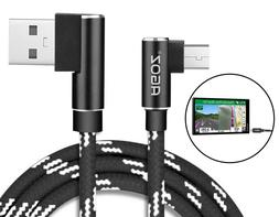 L Shape 4ft, 6ft,10ft Micro USB FAST Charger Sync Cable for