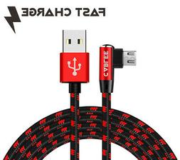 L Shape Braided FAST Micro USB 4FT-6FT-10FT Cable Garmin Das