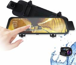 """Rexing M1 HD Dual Channel Rear View 10"""" IPS Touch Screen M"""