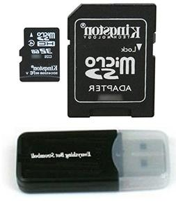 Kingston Micro SD MicroSD TF Flash Memory Card 32GB 32G Clas