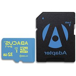 Abacus24-7 32GB microSD Memory Card & SD Adapter for Falcon