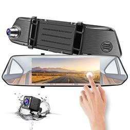 "Mirror Dash Cam, CHICOM 7"" LCD 1080P Full HD IPS Touch Scree"