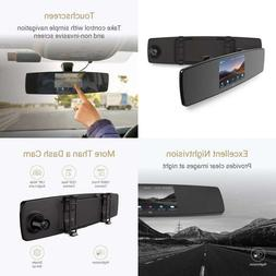 YI Mirror Dash Cam Camera Recorder with Touch Screen Front R