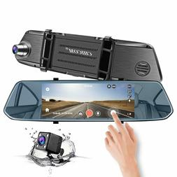 Mirror Dash Cam, CHICOM 7 Inch 1080P Full HD IPS Touch Scree