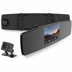 Mirror Dash Cam, Dual Dashboard Camera Recorder With Touch S