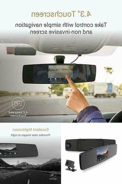 YI Mirror Dash Cam Dual Dashboard Camera Recorder with Touch