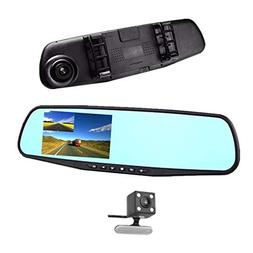 "Mirror Dash Cam, 7"" IPS Touch Screen  Full HD Dual Lens Dash"