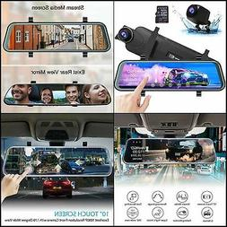 Mirror Dash Camera for Cars - AKASO Cam 10'' Stream Media Fu