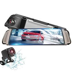 Mirror Dash Camera, Izaway Backup Camera Dash Cam Front and