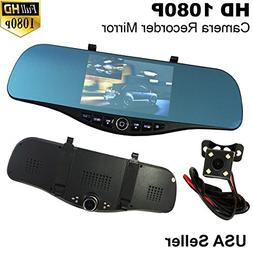 5 in Full HD 1080P Blue 300mm Car Front/Back Up Reverse Rear
