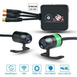 Motorcycle DVR Wi-Fi Camera Dash Cam Video Driving Recorder