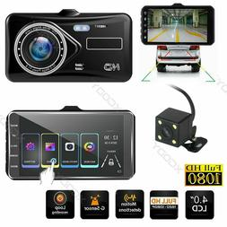 New Dual Lens 4'' HD 1080P For Car Video Recorder Camera Das