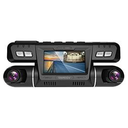 Vizomaoi P28 Dash Cam with WiFi, Dual 1920x1080P Front and C