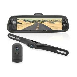 Dash Cam Rearview Mirror Monitor - Dual Front Rear Slim Bar