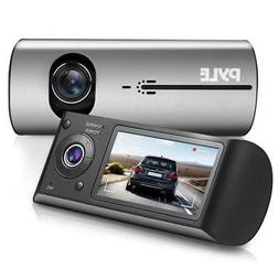 Pyle PLDVRCAMG37 HD Vehicle Dash Cam Dual Camera DVR with GP