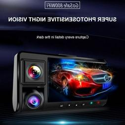 Dual Dash Cam with Infrared Night Vision and 4K WiFi Dual 10