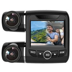 Pruveeo PV2 Dash Cam Dual FHD 1080P+1080P Dash Camera for Ca