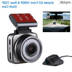 Anytek Q2 Dual Channel 150°Wide Angle Wifi Car Dash Cam Rec