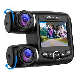 SUAOKI Dual Dash Cam with Front and Rear Full HD 1920x1080p