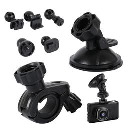 Suction Cup Mount + Mirror Mount, 5 Joint Clips Most Dash Ca