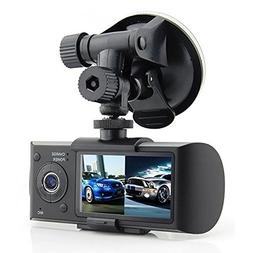 2018 NEW R300 Dual Lens Dashboard Camera - Records Front and