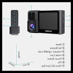 Trace 1 Dual Dash Cam For Cars Car Camera Front 1080P60 1080
