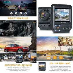 Toguard Uber Dual Dash Cam Infrared Night Vision Car Driving
